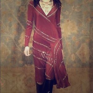 Tory Burch Red Agate Mid-length Night Out Dress